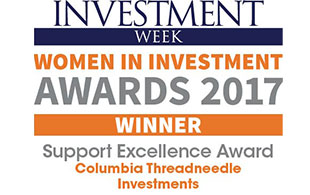Award Investment Week Women in Investment 2017 Support Excellence